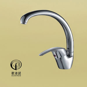 Oudinuo Brass Material Single Lever Wall-Mounted Kitchen Faucet 68918 pictures & photos