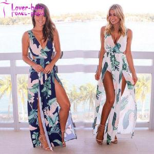 Stephanelle Orange Ombre Multicolor Print Maxi Dress L5012 pictures & photos