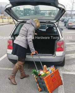 Folding Plastic Shopping Cart (FC403C-2-1) pictures & photos