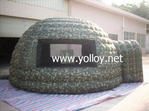 Camouflage Inflatable Igloo Tent Military Dome pictures & photos