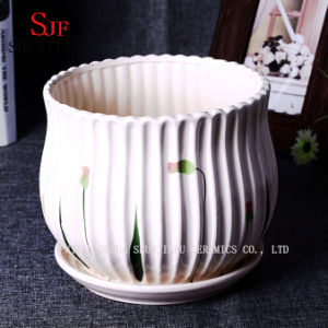 Generous Planter Modern Ceramic Flowerpot pictures & photos
