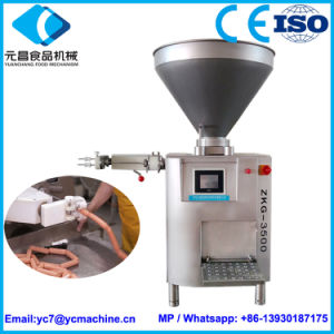 Zkg-3500 Automatic Vacuum Sausage Stuffer Machine for Filling Sausage Commercial pictures & photos
