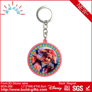 Plastic Mirror with Epoxy on Sticker Label and Keyring pictures & photos
