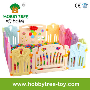 2017 Lovely Indoor Plastic Children Play Game Fence (HBS17069A)