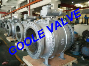 150LB 3 PCS Cast Steel Trunnion Mounted Ball Valve (GAQ347F) pictures & photos