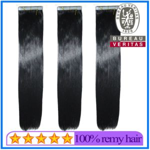High Quality Double Drawn Tape Hair Skin Weft Hair Extension pictures & photos