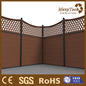 PS Wood & WPC Board& Aluminum Post Decorative Panel Fence pictures & photos