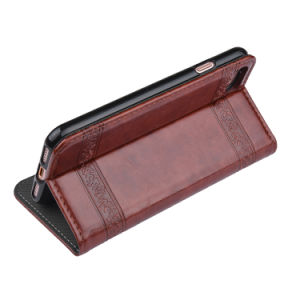 C&T Luxury Leather Wallet Case Elegant Flower Embossed Folio Protective Cover Magnetic Flip Stand Case for Apple Ipone 7 pictures & photos