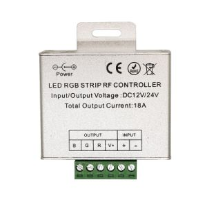 12-24V DC 5 Keys Dimmer RF Touch Aluminum Shell RGB Controll for LED Strips 18A Black pictures & photos