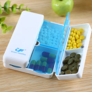 Mini Folding Plastic Magnet Sealing Cover Pill Medicine Case Box pictures & photos