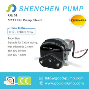 Yz25 DC Motor Drive High Quality 0-1740ml Peristaltic Pump pictures & photos