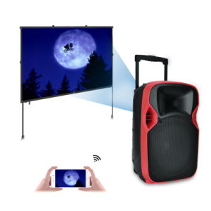 Competitive 12 Inches Plastic LED Projection Sound Box with Multi-Function pictures & photos