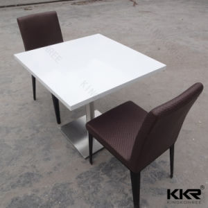 Customized Solid Surface Square C Kitchen Tables for Bar pictures & photos