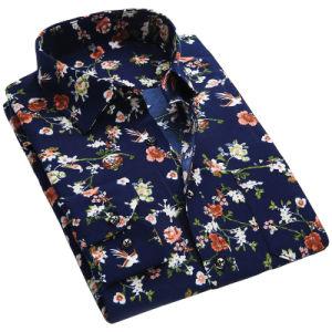 OEM Men Printing Cotton Shirts CVC Cheaper Dress Formal Shirt pictures & photos