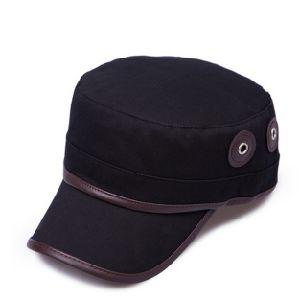 Black Cotton Flat Top Cap pictures & photos