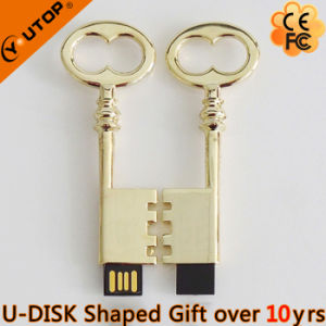 Company Gifts Sparkling Golden Metal USB Pendrive (YT-3230) pictures & photos