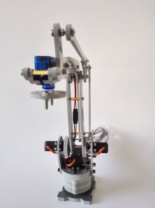 4 Axis Stacker Servos Arduino Controlled Palletizing Model Robot Arm pictures & photos