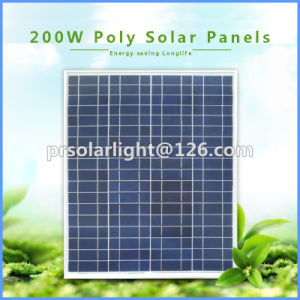 200W High Efficiency Poly Renewable Energy Saving Solar Panel Module pictures & photos