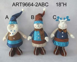Standing Santa, Snowman and Moose Christmas Decoration Gift Craft-3asst pictures & photos