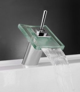 Ce Single Handle Glass Basin Mixer for Bathroom pictures & photos