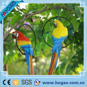 Polyresin Resin Sound Controlled Garden Figurine Duck Parrot Bird pictures & photos