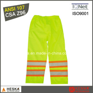 High Visibility Waterproof Safety Pants with Reflective Tape pictures & photos