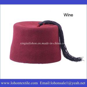 Muslim Fez Cap Turkish Prayer Hat with Tassel for Middleast Man pictures & photos