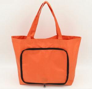 Promotion Folding Orange Shopping Handbags