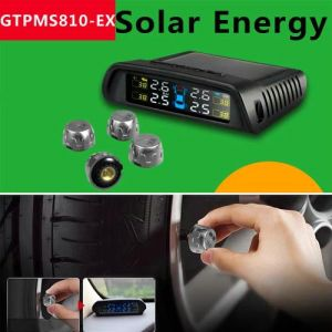 Car TPMS by Solar Energy for External Wireless Sensor