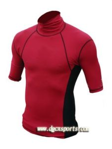 4-Way Stretch Red Lycra Rash Guard pictures & photos