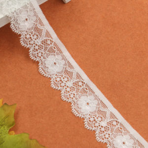 Cheap Custom Design Nylon Bridal Lace Trim Importer for Bra pictures & photos