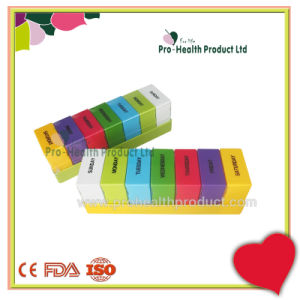 Colorful Weekly Square 28 Cases Plastic 7 Day Pill Box pictures & photos