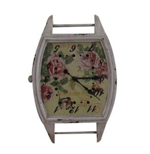 Oval Iron Decoration Wall Clock Comes in Antique Broken Finish Promotion Home Furniture