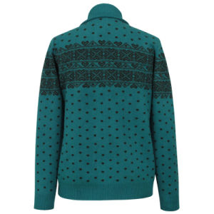 Gn1419yak and Wool Blended Women′s Knitted Cardigan pictures & photos