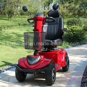 Four Wheel Motor Scooter 950W Hydraulic Tiller Adjusted Mobility Scooter pictures & photos