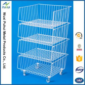 Adjustable Wire Basket Holder for Home Storage pictures & photos