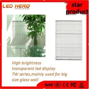 Beautiful/Clear P7.5-8 of Transparent Screen for Glass Building