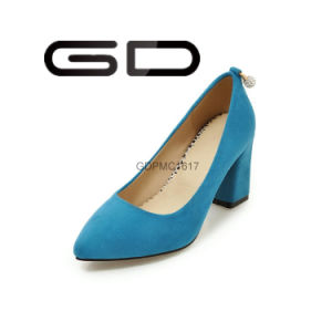 Chunky Heel Low Heel Thin Shoes Women Shoes pictures & photos