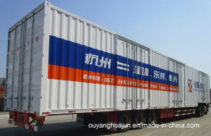 17.5 Meters Flatbed Van Type Semitrailer pictures & photos
