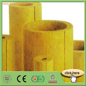 Fire Resistat Rigid Rock Wool Insulation Piping pictures & photos