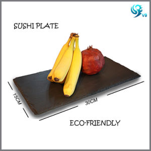 Wholesale Eco-Friendly Material Oiled Natural Black Slate Plate pictures & photos