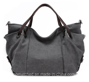 Women Canvas Handbag Shoulder Mummy Canvas Tote Lady Hand Bag pictures & photos