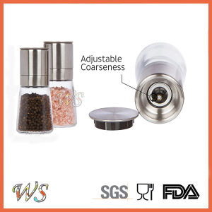 Ws-Pgs011 Stainless Steel & Glass - Adjustable Manual Pepper Grinder Set /Pepper Mill Set pictures & photos