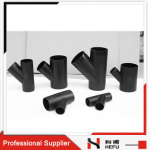 Sanitary Drainage Pipe Black Plastic PE Tee Plumbing Fittings for Bathroom pictures & photos
