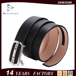 Light Luxury Genuine Rhinestone Cow Leather Metal Men Belts pictures & photos