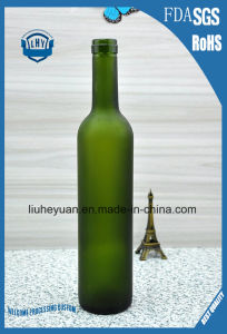 500ml Green Frosted Glass Red Wine Bottle pictures & photos