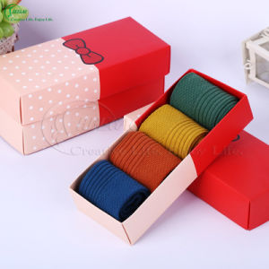 Custom Printing Paper Cardboard Packaging Boxes for Socks (KG-PX097)