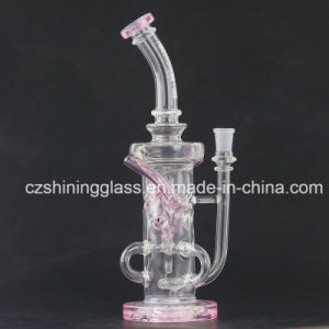 Pink Color Recycler Style Smoking Water Pipes Oil Rigs with Swiss pictures & photos