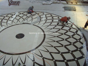 CNC Flower Marble Medallion for Hotel Lobby pictures & photos