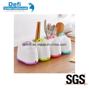 Plastic Tableware Storage Box with Handle pictures & photos